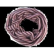 Stribet strik -  lilla / rose