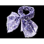 Tørklæde m/print - lilla