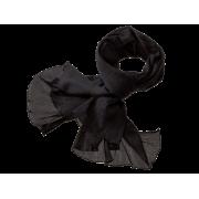 Tørklæde i crepe - sort
