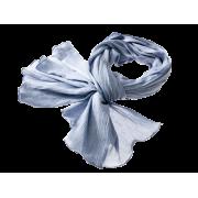 Tørklæde i crepe - støv blå