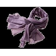 Tørklæde i crepe - støv lilla