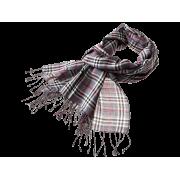 Tørklæde m/tern - grå