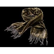 Tørklæde m/tynde boucle striber