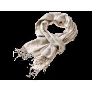 Tørklæde stribet - sand