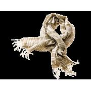 Tørklæde m/striber - Sand