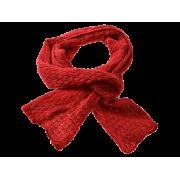 Smalt halstørklæde i rød uld