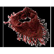 Tørklæde, jacquard - Vinrød