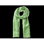 Tørklæde m/dyreprint - Grøn